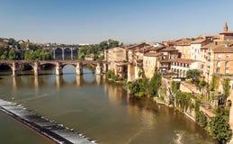 Albi medeltida stad i Frankrike Royaltyfri Fotografi