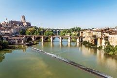 Albi medeltida stad i Frankrike Arkivbild