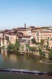 Albi medeltida stad i Frankrike Arkivbilder