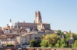 Albi medeltida stad i Frankrike Royaltyfri Foto