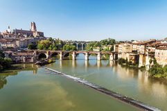 Albi medieval city in France Stock Photography