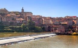 Albi middeleeuwse stad in Frankrijk Stock Foto