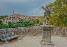 Sculpture in viewpoint of Albi stock photo