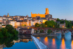 Albi at night Royalty Free Stock Photography