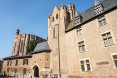 Albi, Palais de la Berbie and Cathedral Stock Photos
