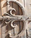 Albi, Palais de la Berbie, door. Albi (Tarn, Midi-Pyrenees, France) - Door of the gothic Palais de la Berbie, detail Royalty Free Stock Images
