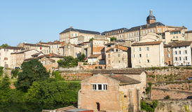 Albi, panoramic view. Albi (Tarn, Midi-Pyrenees, France) - Panoramic view from the ancient bridge over the Tarn river Stock Photos