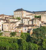 Albi, panoramic view. Albi (Tarn, Midi-Pyrenees, France) - Panoramic view from the ancient bridge over the Tarn river Stock Images