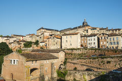 Albi, panoramic view. Albi (Tarn, Midi-Pyrenees, France) - Panoramic view from the ancient bridge over the Tarn river Stock Photography