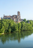 Albi, panoramic view. Albi (Tarn, Midi-Pyrenees, France) - Panoramic view from the ancient bridge over the Tarn river Royalty Free Stock Photography