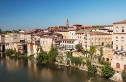 Albi średniowieczny miasto w Francja Zdjęcia Royalty Free