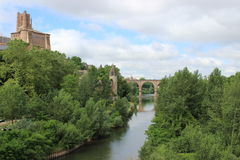 Albi on the river Tarn. Historic town of Albi on the river Tarn Royalty Free Stock Images