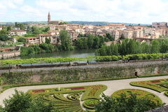 Albi on the river Tarn. Historic town of Albi on the river Tarn Royalty Free Stock Photo