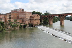 Albi on the river Tarn. Historic town of Albi on the river Tarn Stock Photos
