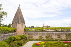 Albi's church from Berbie's palace in Albi. France Royalty Free Stock Images