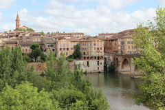 Albi, Tarn department. Albi on the river in the Tarn department Stock Photography