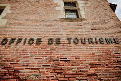 Albi Tourist Office. An old brick biulding in the historic town of Albi in France Royalty Free Stock Photos