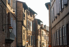 Albi, typical old street Royalty Free Stock Image