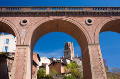 Albi. View on the cathedral of Albi, France Stock Images