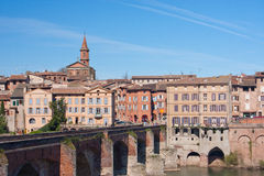 Albi. View on the city of Albi, France Stock Images