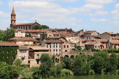 Albi. View of the city of Albi, France stock photos