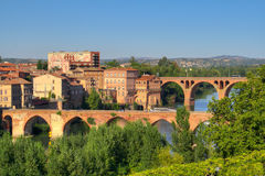 Albi. Vue on the city of Albi, France Royalty Free Stock Photo