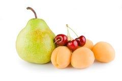 Albicocca della ciliegia della pera Fotografia Stock