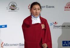 Albina Mambetova, gold medalist Royalty Free Stock Photos