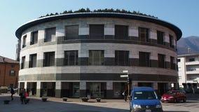 Albino Bergamo, Italien Fasaden av stadshuset av staden arkivfilmer