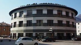 Albino Bergamo, Italien Fasaden av stadshuset av staden stock video