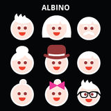 Albino people, Albinism  icons set Stock Images