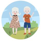 Albinosów dzieciaki albinizm Chłopiec i dziewczyna Ilustracji