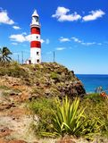 Mauritius Island, Albion Lighthouse. Albion Lighthouse and cliff coast. Mauritius Island, Indian Ocean. Africa stock photo