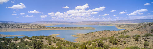 Albiquiu Reservoir,. Route 84  in New Mexico Stock Photo