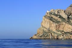albir阿尔特阿在punta附近的海角灯塔 库存照片