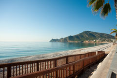 Albir beach. Scenic Albir beach on the Costa Blanca, Spain Stock Image