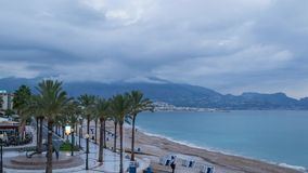 Albir beach stock video footage