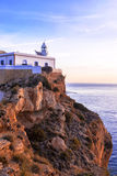 Albir lighthouse beautifully located on top of a cliff Royalty Free Stock Image