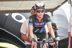 Giro Rosa 2016, 27th edition of the Giro d`Italia feminine. Albisola SV July 8, 2016: Women`s Giro d`Italia: Stage Albisola Superiore - Varazze royalty free stock images