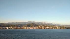 Albissola-Марина морского побережья, Савона, Италия сток-видео