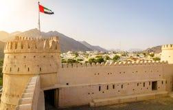 AlBithnah堡垒,阿拉伯联合酋长国 免版税库存照片
