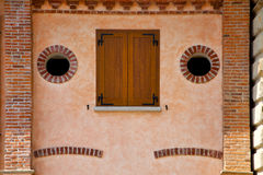 Albizzate  window  varese italy abstract      wood Royalty Free Stock Photography
