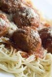 Albóndigas y espagueti Foto de archivo