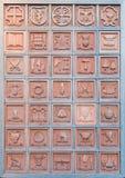 Albo con le professioni di terracotta Orvieto Italia Fotografie Stock Libere da Diritti