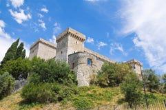 Albornoz堡垒。 Narni。 翁布里亚。 意大利。 免版税库存图片