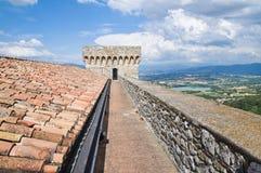 Albornoz堡垒。纳尔尼。翁布里亚。意大利。 免版税库存照片