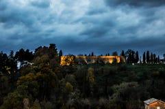 Albornoz堡垒,乌尔比诺 库存照片