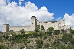albornoz堡垒spoleto翁布里亚 图库摄影