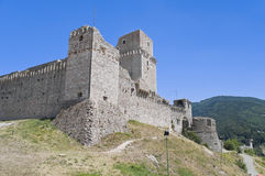Albornoz fortress. Assisi. Umbria. Royalty Free Stock Images