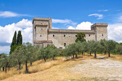 Albornoz fortress. Narni. Umbria. Italy. Royalty Free Stock Photography